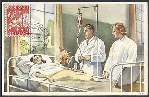 Netherlands 1953 Red Cross MaximumCard not sent