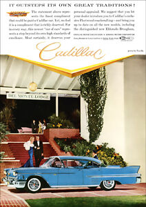 1958 CADILLAC SEDAN DE VILLE SERIES 62 RETRO A3 POSTER PRINT FROM ADVERT 1958