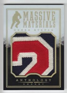 2014-15-PANINI-ANTHOLOGY-DEREK-STEPAN-PATCH-NUMBER-99-MASSIVE-MATERIALS-Rangers