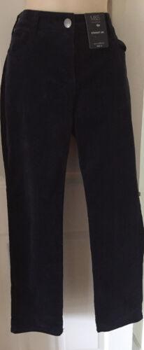 MARKS /& SPENCER velours côtelé pantalon coupe droite taille 12 bnwt