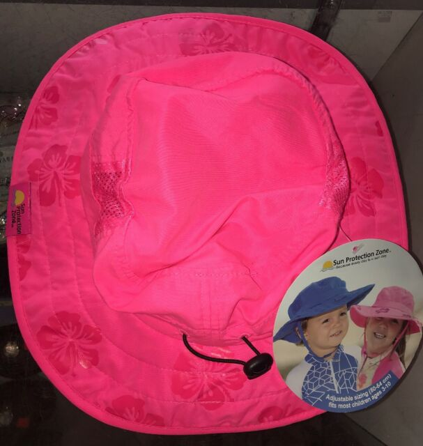73ea4af7 2pk Kids Safari Hat Sun Protective Zone UPF 50 Child Block UV Rays Shade  938151 Pink