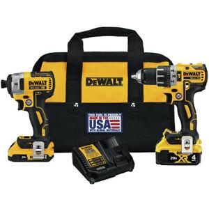 DEWALT-20V-MAX-XR-Hammer-Drill-Driver-amp-Impact-Driver-Combo-DCK287D1M1R-Recon