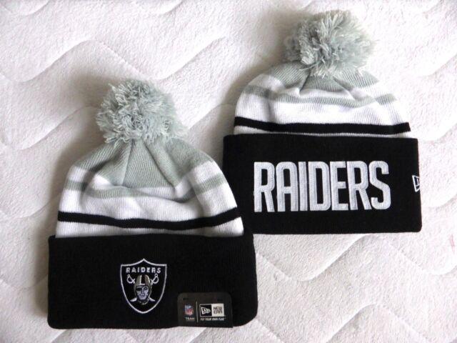 31669a951a3 OAKLAND RAIDERS DEEP CUFF New Era American Football Bobble Beanie Toque Hat  NFL