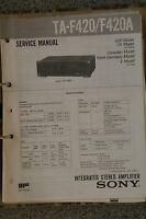 Service Manual für Sony TA-F420 / F420A