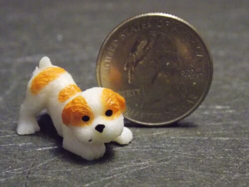 Dollhouse Miniature Dog Puppy /& Food Set 1:12 scale PUP113 Dollys Gallery F77