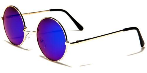 New Women Ladies Men Gents Round Mirrored Sunglasses Vintage Retro Summer 12008