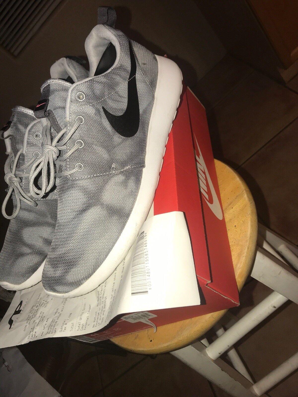 Special limited time Nike Roshe Run Print Grey/Black-White 655206 001 Men's Comfortable