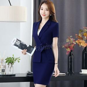 Summer Womens Business Ladies Office Uniform Ol Style Work Suits