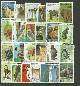 WILD-ANIMALS-Collection-Packet-25-Different-Stamps-Lot-1