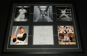 Roberto-Clemente-Signed-Framed-1966-Document-amp-Photo-Display-JSA-LOA-Pirates