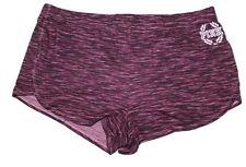 Victorias Secret Pink Sexy Logo Pajama Sleep Short Marl Burgundy Sz Small NWT