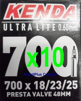 6x Kenda 700c PRESTA Ultra Lite Light Road Tube 700x18//23//25 F//V 48mm Valve 65g