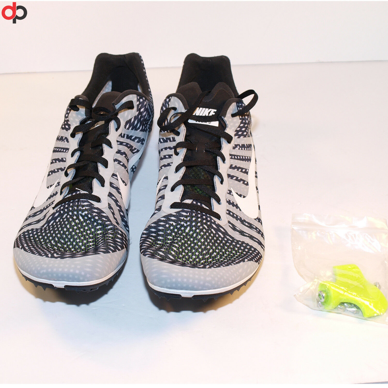 NIKE ZOOM D DISTANCE TRACK SPIKES Black/White/Gray 819164-010 Comfortable