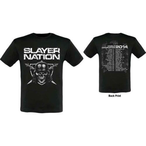 Slayer Men/'s Tee Slayer Nation 2014 Dates Ex-Tour with Back Print