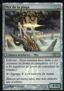 MTG-MAGIC-1x-MYR-DE-LA-PLAGA-PLAGUE-MYR-PROMO-FOIL-ESPANOL