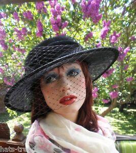 La imagen se está cargando Sombrero-Mujer-Elegante-para-Eventos-Luto-Ascot- Festivo- 05da1ae5692
