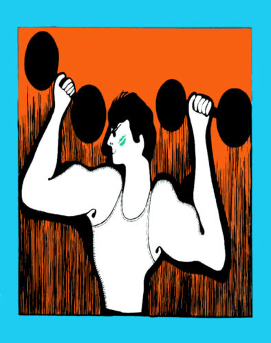 Wall Decor Poster.Fine Graphic Art Design.Weightlifting.Weight.Room art.183