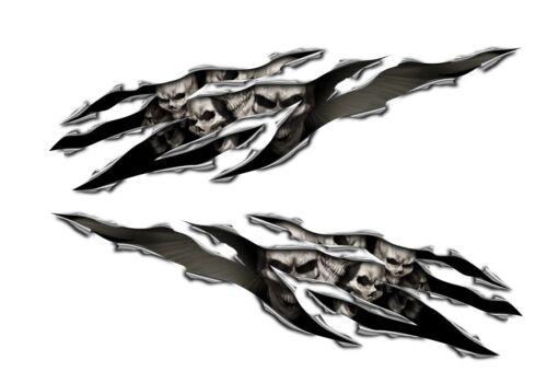 Honda CBR 1000RR 600RR F4I 250R CB 1000R 500F 500R  Skull Rip Decal Sticker Set