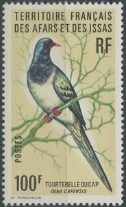 AFARS-amp-ISSAS-1976-N-429-Tourterelle-masquee-du-Cap-Colombe-masquee-BIRD-MNH