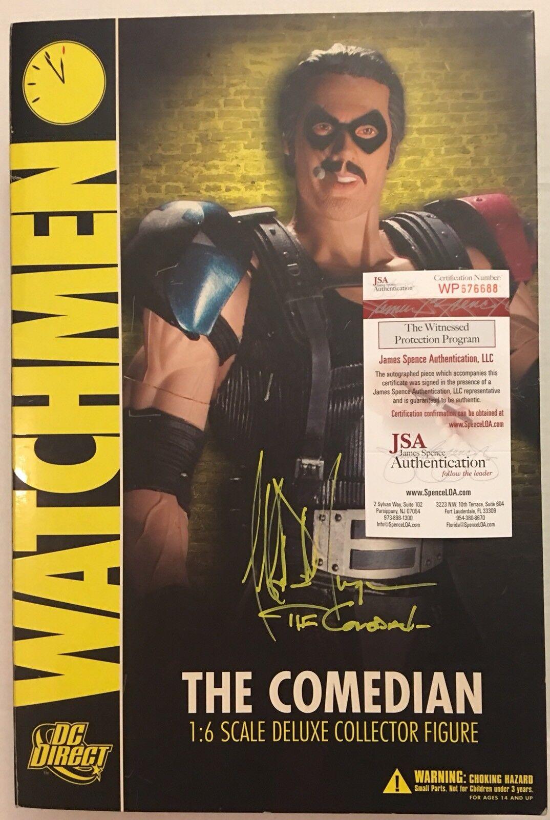JSA COA SIGNED Jeffrey Dean Morgan1 6 DC Direct Watchmen Figure  The Comedian
