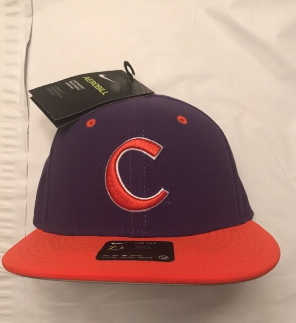more photos 0bdcf 4547e Men s Nike Aerobill Clemson Tigers True Baseball Fitted Hat Cap Size 7 3 8  NWT