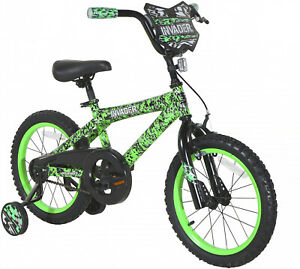 16 Kids Bike Bicycle Boys Girls With Training Wheels Coaster Brake Green Yr 4 8 87876058571 Ebay