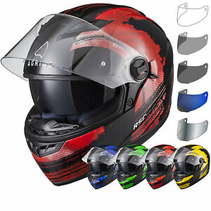 Agrius Rage SV Claw Motorcycle Helmet XL Gloss Black//Red
