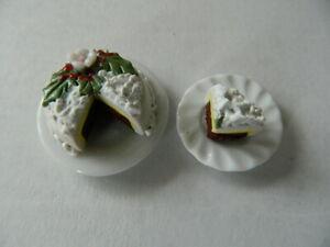 (cf.27) échelle 1/12th Maison De Poupées Handmade Noël Gâteau Avec Fentes-afficher Le Titre D'origine 6p4rt4nb-07171103-125451999