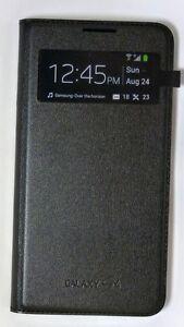 Samsung-S-View-Flip-Cover-Etui-en-cuir-pour-Samsung-Galaxy-S4-Noir