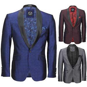 Para-hombre-traje-de-Esmoquin-Vintage-floral-del-damasco-Cena-Chaqueta-Boda-Fiesta-Formal-Blazer