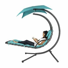 new outdoor hanging lounge hammock style yard patio chaise chair lounger swing merax four curved legs hammock dream chair chaise lounge orange   ebay  rh   ebay
