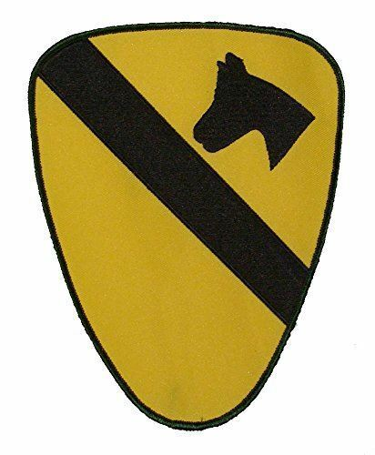 US ARMY FIRST 1ST CAVALRY CAV DIVISION PATCH REGULATION SIZE LARGE VETERAN