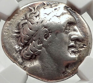 PTOLEMY-I-Soter-Authentic-Ancient-305BC-Silver-Greek-Tetradrachm-Coin-NGC-i68283