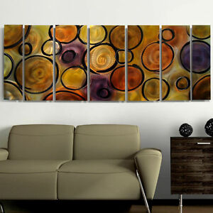 Large-Metal-Wall-Art-7-Panels-Abstract-Earth-Tones-Painting-Artist-Jon-Allen