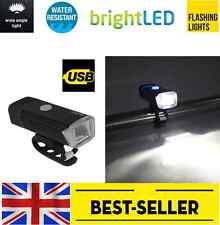 front USB bike light brand Machfally - powerful white led Cree - aluminium alloy