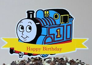 Incredible Thomas Tank Engine Cake Topper Party Centerpiece Personalised Birthday Cards Sponlily Jamesorg