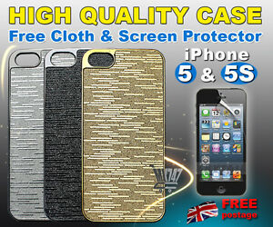 FOR-APPLE-iPHONE-5-5S-LUXURY-CASE-HARD-COVER-FREE-STYLUS-amp-FILM