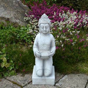 Massive Steinfigur kleiner Stein Buddha Statue Feng Shui Steinguss frostfest