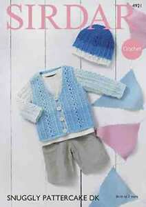 Sirdar-Snuggly-Pattercake-pattern-4921-Crochet-cardigan-and-bonnet