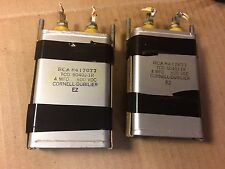 2 Vintage Cornell Dubilier RCA 4.0 uf 600v Bathtub Oil Capacitors for amp TESTED