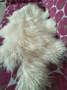 Details About 55cm 105cm Genuine Mongolian Sheepskin Lamb Wool Fur Rug Hide Pelt Plate Throw