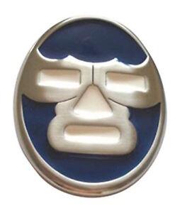 Lucha-Libre-Masque-Combattant-Boucle-Ceinture-Bleu