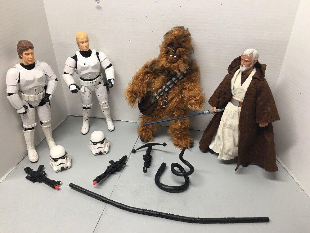 "Star Wars 12""Luke Skywalker Han Solo Stormtrooper Dianoga Obi-WAN Obi-WAN Obi-WAN Chewbacca 76427c"