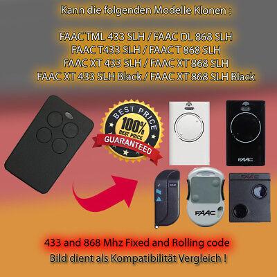 X2 FAAC TM 433DS-1,TM 433DS-2,TM 433DS-3 Kompatibel Handsender ersatz klone