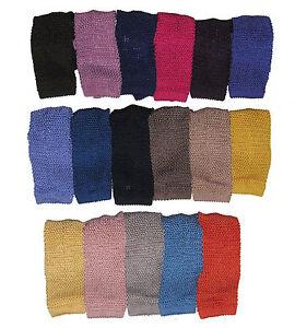 Ralph-Lauren-Purple-Label-Mens-Italy-Solid-Hand-Knit-Silk-Square-Sock-Neck-Tie