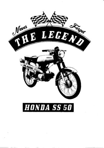 Motorcycle Bike Honda Ss 50 Oldtimer T-Shirt Youngtimer