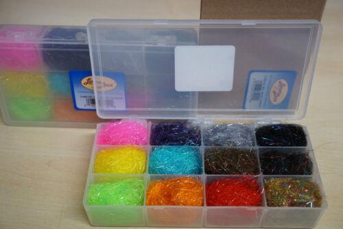 12 Farben Dubbing Dispenser Box Salmo Supreme Dubbing Larva Lace U.S.A