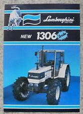 LAMBORGHINI 1306 TURBO Tractor Sales Spec Leaflet Nov 1985 #COD 308 2043 3.2