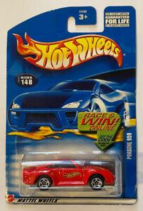 2002-HOTWHEELS-PORSCHE-959-ROSSO-Nuovo-di-zecca-MOC-molto-rara