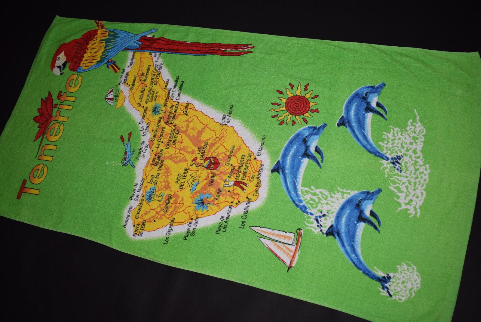 Tenerife Beach Towel Beach Towel Comic Graphic Summer Tenerife Vintage 140x75-show original title